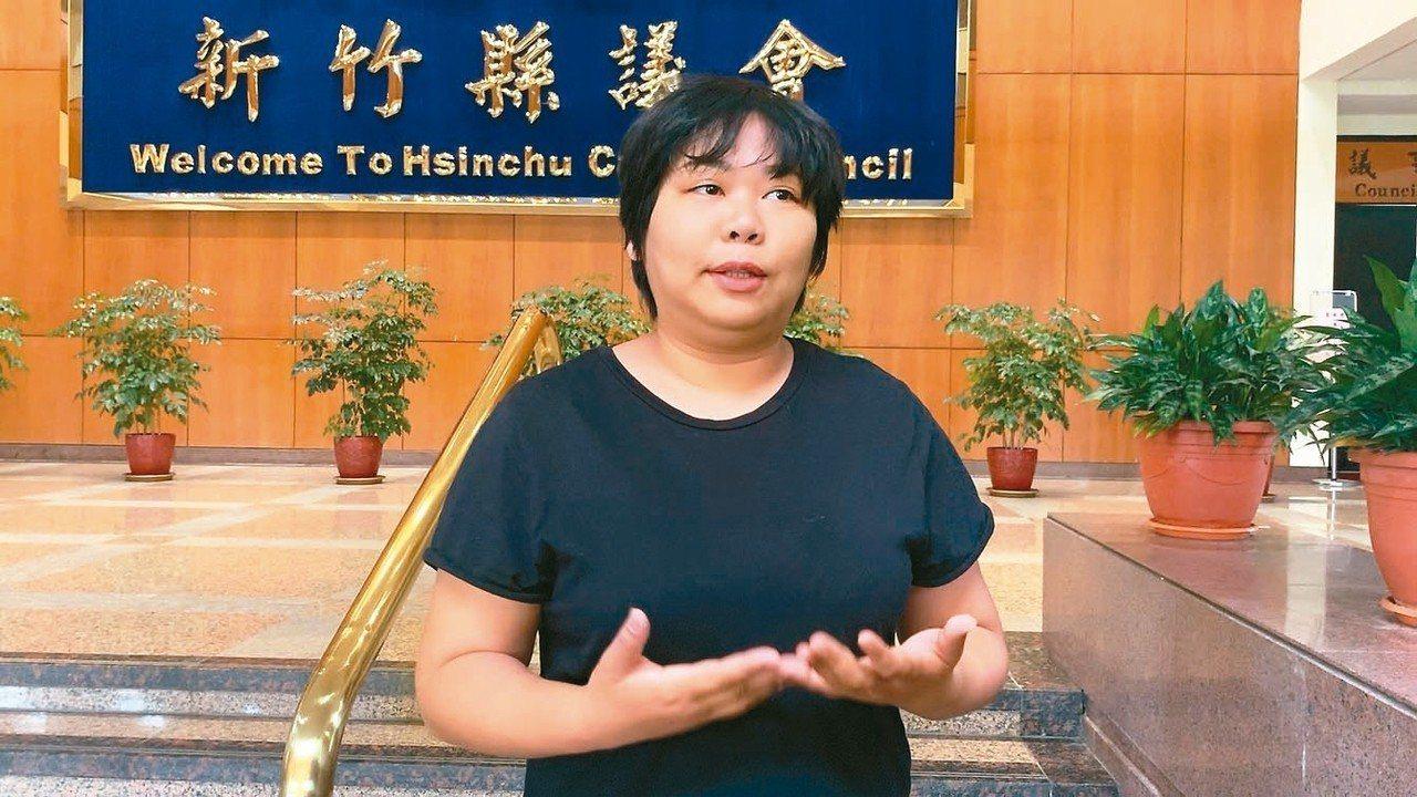 新竹縣議員連郁婷昨在議會爆料,某國小老師疑體罰、甚至霸凌學生。 記者陳斯穎/攝影