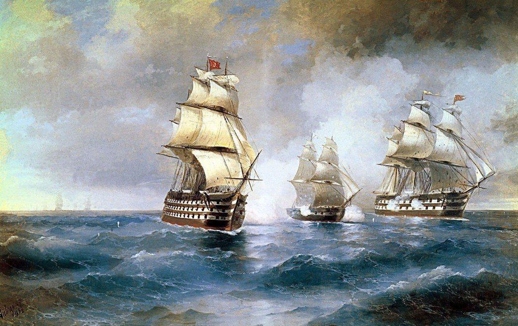 伊凡艾瓦佐夫斯基以海景畫與海岸系列聞名,也被公認為最偉大的海洋藝術大師之一。 圖...