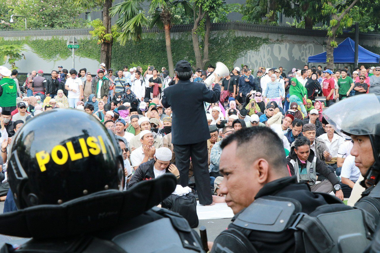 印尼總統大勝連任 對手拒認輸 中央社