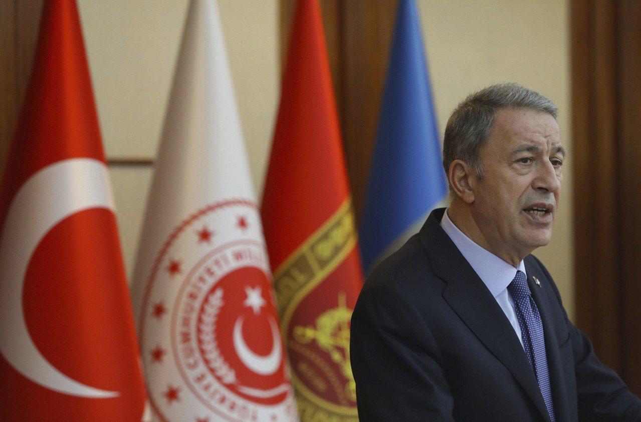 土耳其國防部長艾卡(Hulusi Akar)。 美聯社