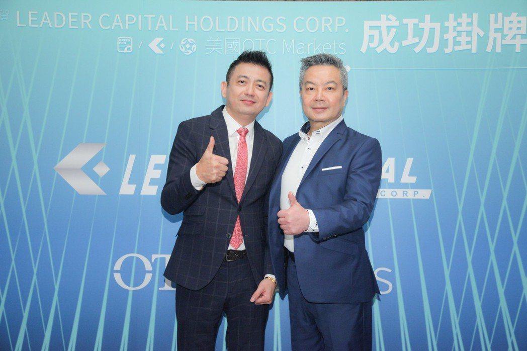來達資本董事長鄭瑞鋒(右)與Jeff Lin。 來達資本/提供