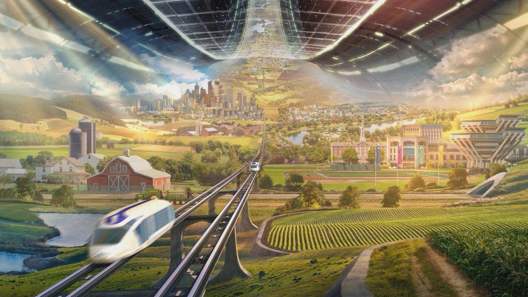 若要久居、定居太空,貝佐斯則表示:人類未來應移居到「歐尼爾圓筒」(O'Neill...