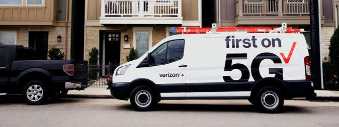 圖1:美國的Verizon,是全球第一家提供5G服務的電信商 (資料來源:htt...