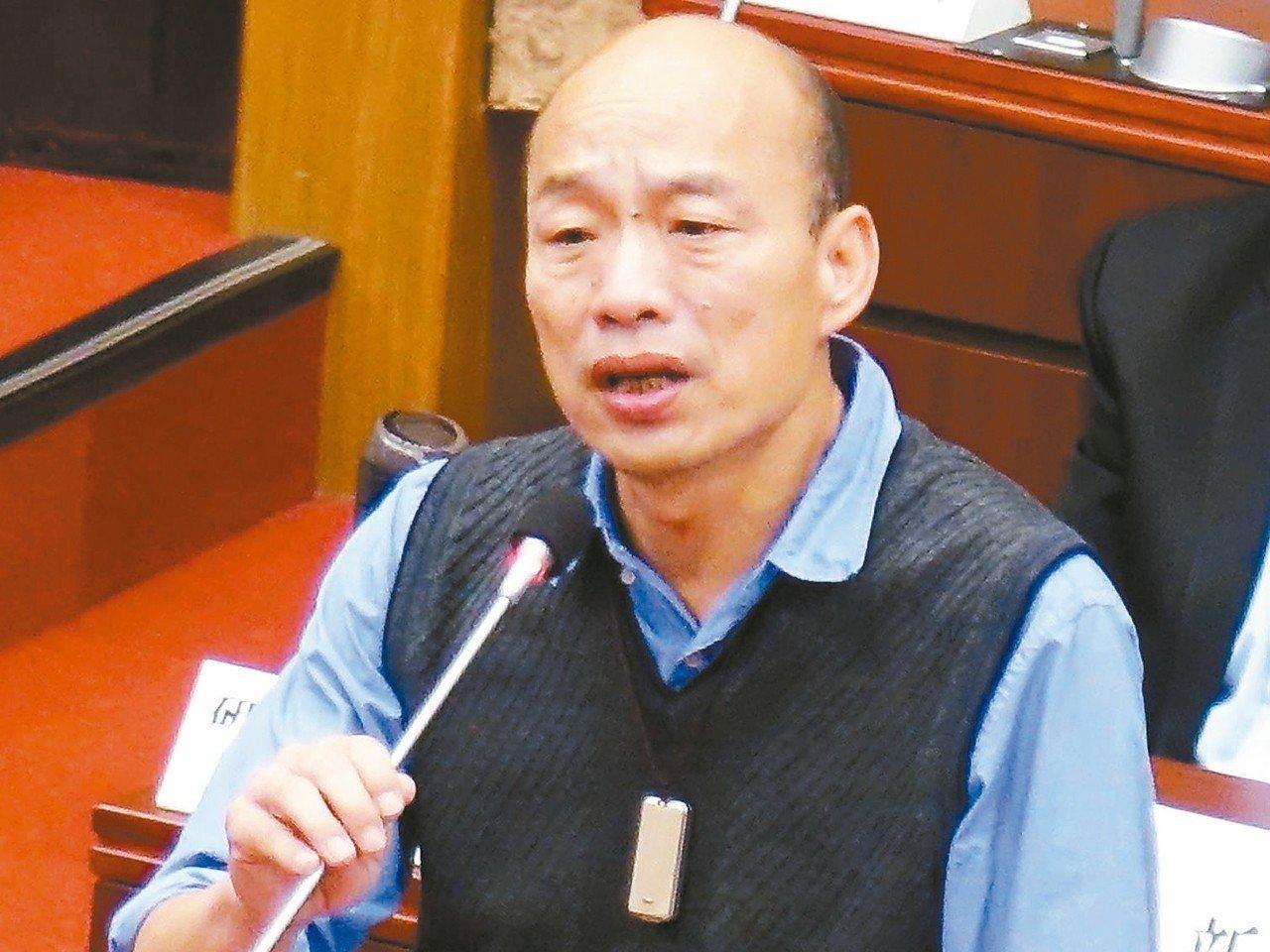 高雄市長韓國瑜。 記者楊濡嘉/攝影