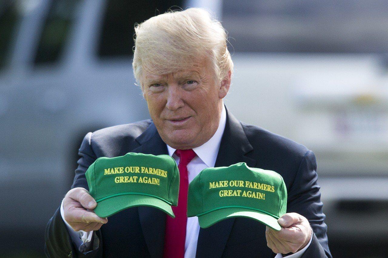 川普最快在23日宣布新一輪農民補助方案。歐新社