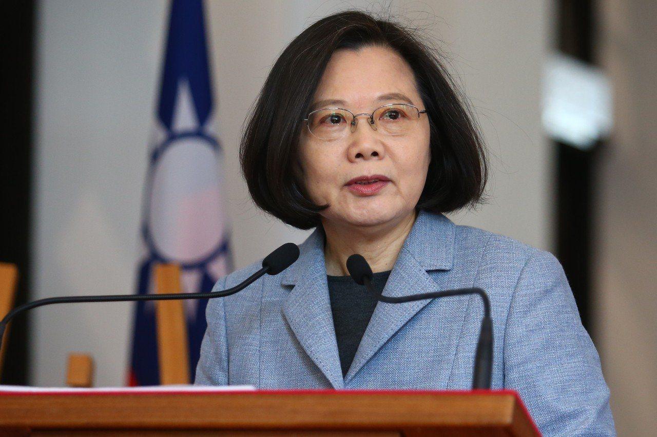 新華社文章批評蔡英文煽動兩岸對抗。聯合報資料照片