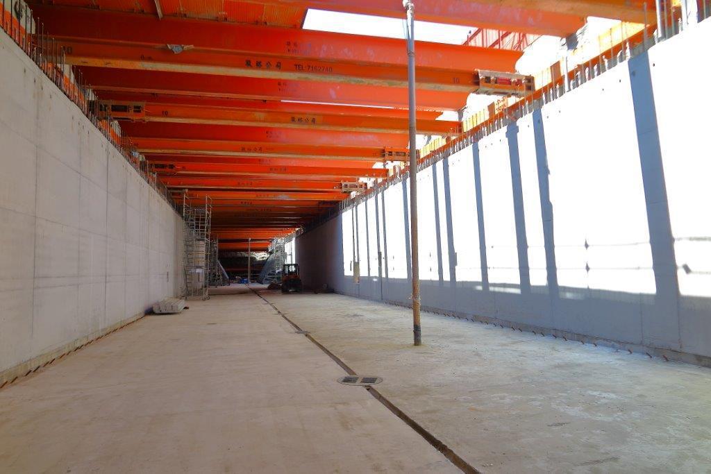 台南市區鐵路地下化計畫積極全面展開施工。圖/鐵道局提供