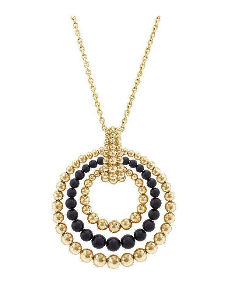 梵克雅寶Perlée couleurs可轉換式長項鍊,黃K金鑲嵌縞瑪瑙,65萬5...