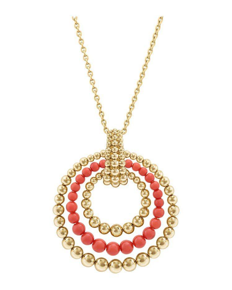 梵克雅寶Perlée couleurs可轉換式長項鍊,黃K金鑲嵌珊瑚,65萬5,...