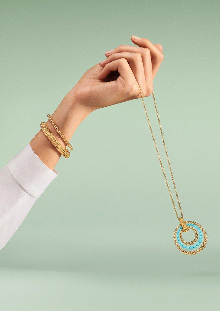 梵克雅寶經典的Perlée系列全新品項為可轉換式長項鍊。圖/梵克雅寶提供