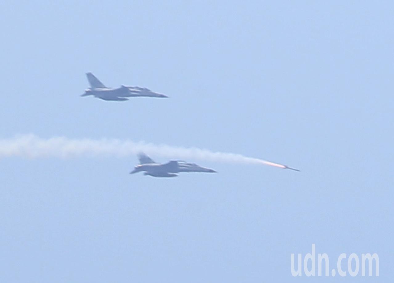IDF戰機實施劍一飛彈射擊。記者林澔一/攝影