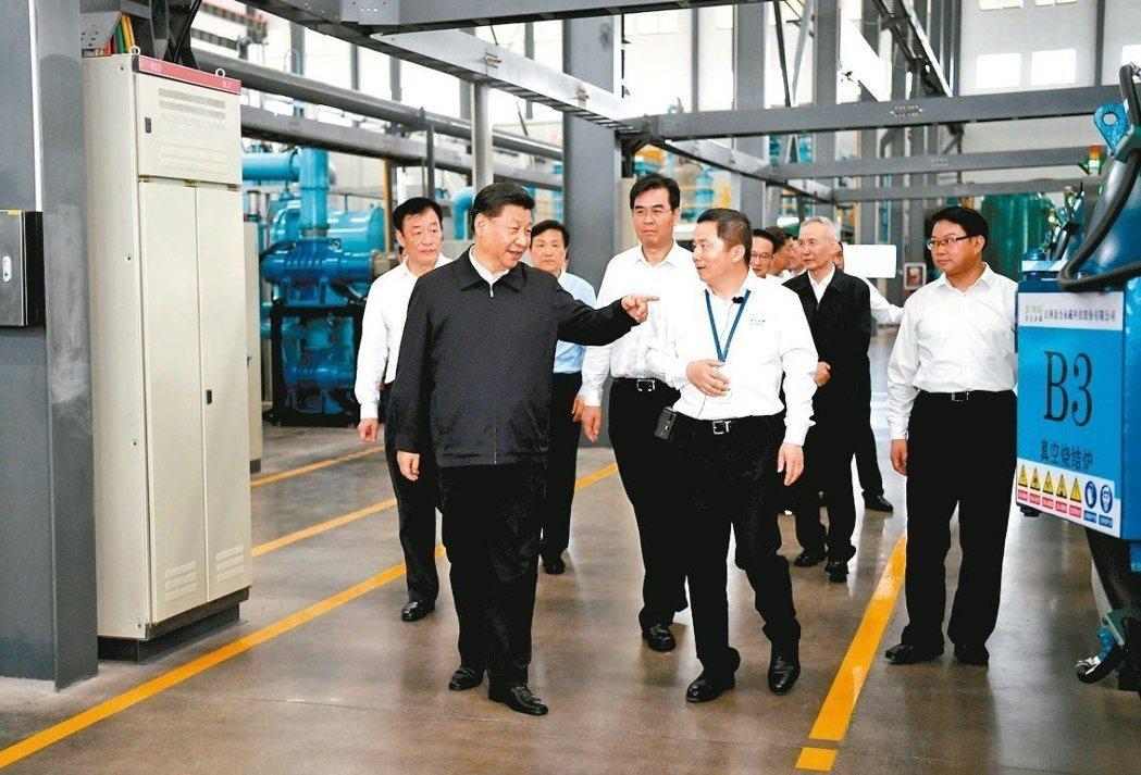 中國國家主席習近平前往江西考察帶動稀土概念股受到注目。 新華社