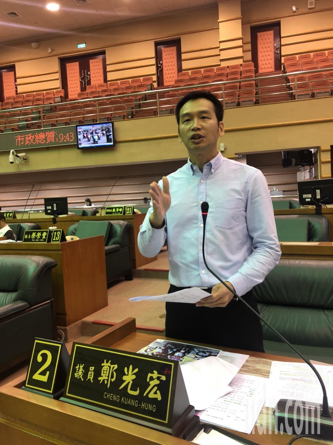 嘉義市議員鄭光宏指出,前任市長的政策,卻讓現任市長黃敏惠收爛攤子,「根本是遇到詐...