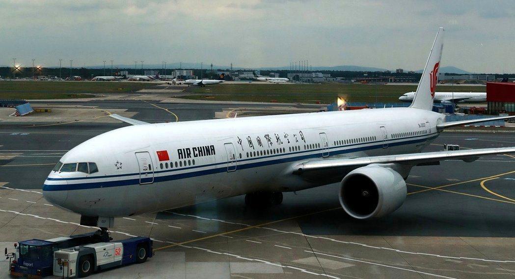 圖為國航班機。新華社資料照片