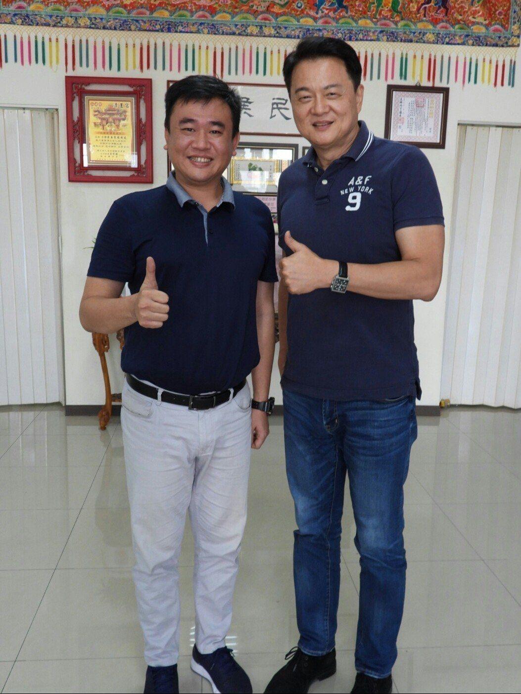 前台北縣長周錫瑋周錫瑋(右),日前拜訪台南政商界人士。圖/本報資料照