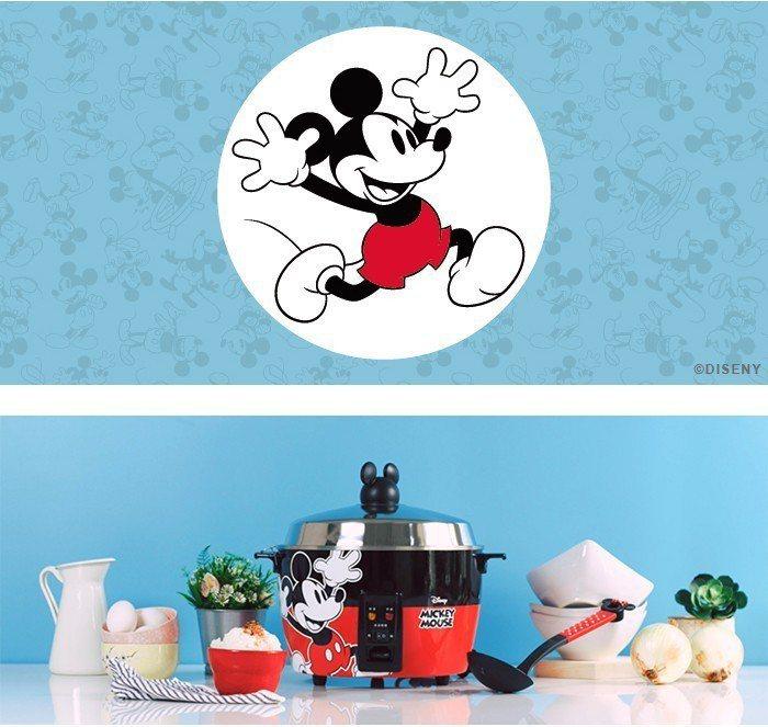 迪士尼米奇系列不鏽鋼電鍋,建議售價4,990元,博客來特價3,980元。圖/博客...