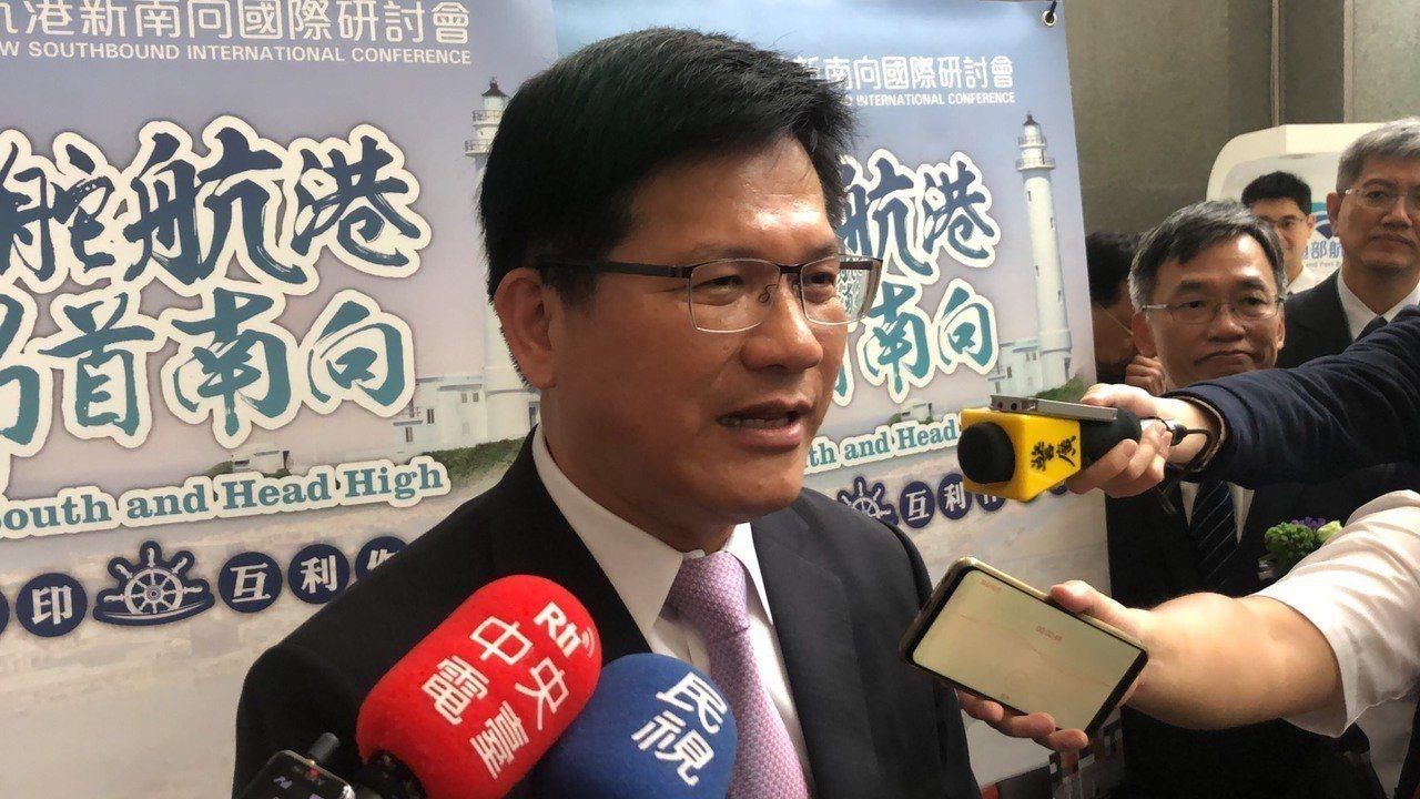 交通部長林佳龍。記者侯俐安/攝影