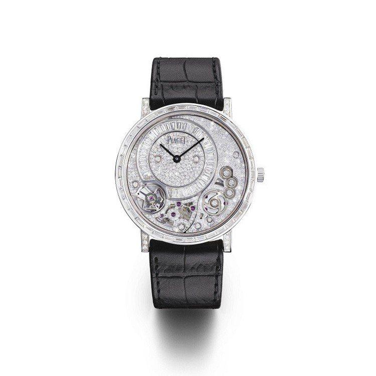 胡歌配戴的伯爵Altiplano系列高級珠寶鑽石腕表,605萬元。圖/伯爵提供