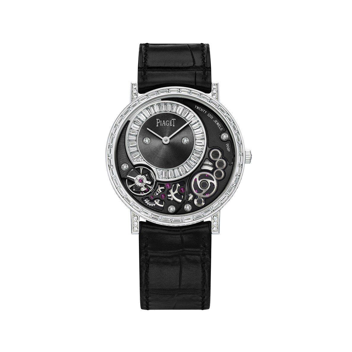 胡歌配戴的伯爵Altiplano系列高級珠寶鑽石腕表,570萬元。圖/伯爵提供