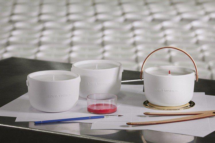 4款香氛蠟燭都來自品牌香氛工坊Les Fontaines Parfumées的香...