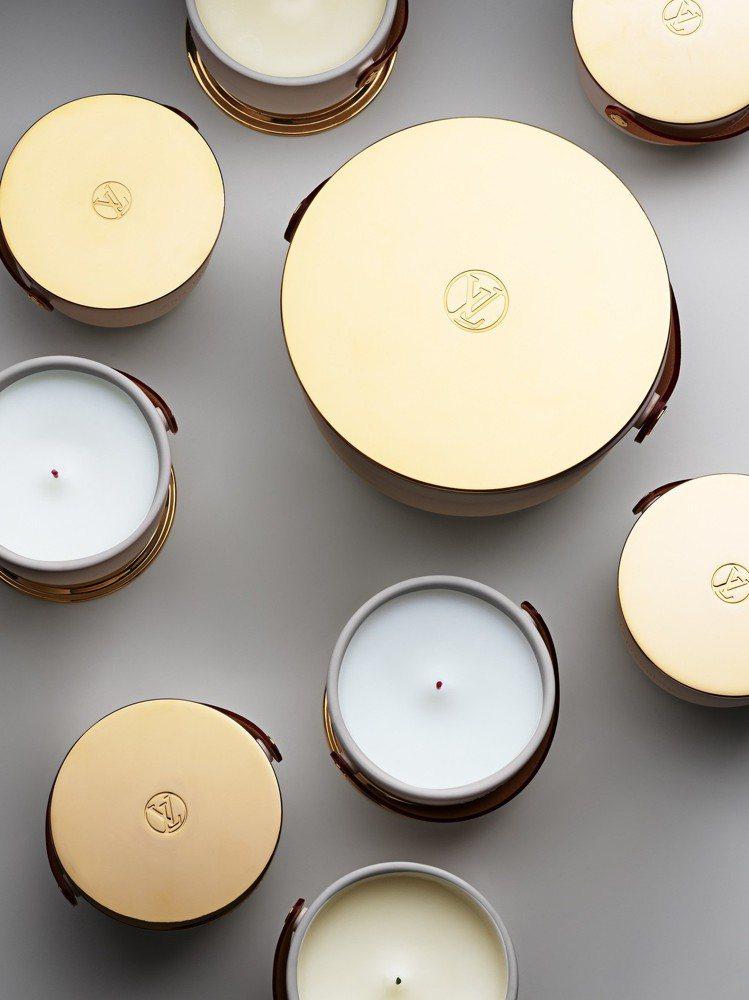 路易威登香氛蠟燭分為220g與1.1公斤兩種容量版本。圖/LV提供