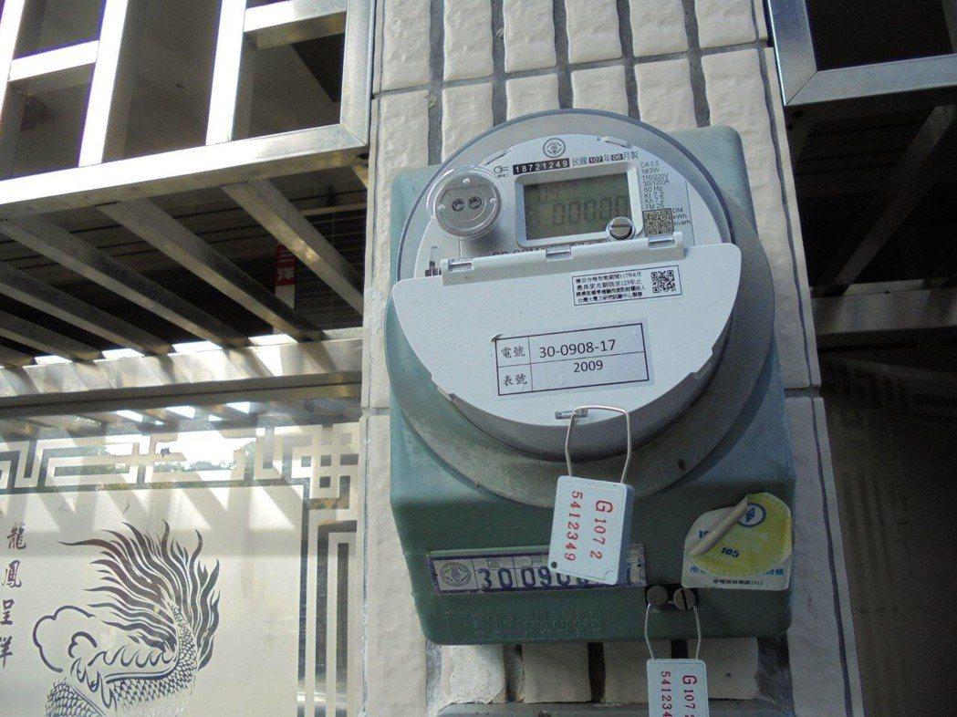 租屋電費合理價格為多少?網指法律規定每度不超過6.41元為上限。圖/台電提供