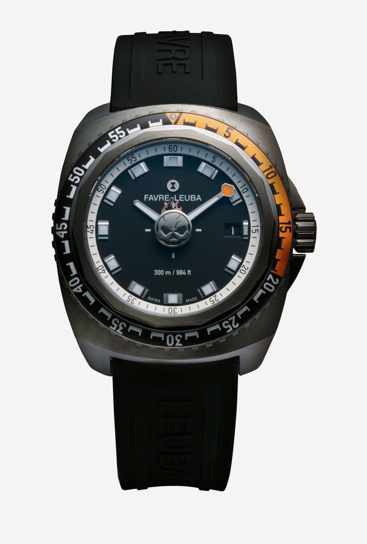 亞洲限定概念款Deep Blue Passion腕表,不鏽鋼表殼搭配鋁合金單向旋...