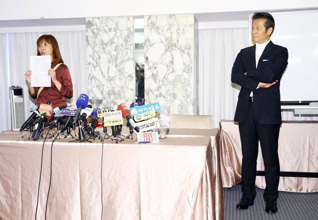 蔡米芳突然現身會場,氣氛一度尷尬。記者杜建重/攝影