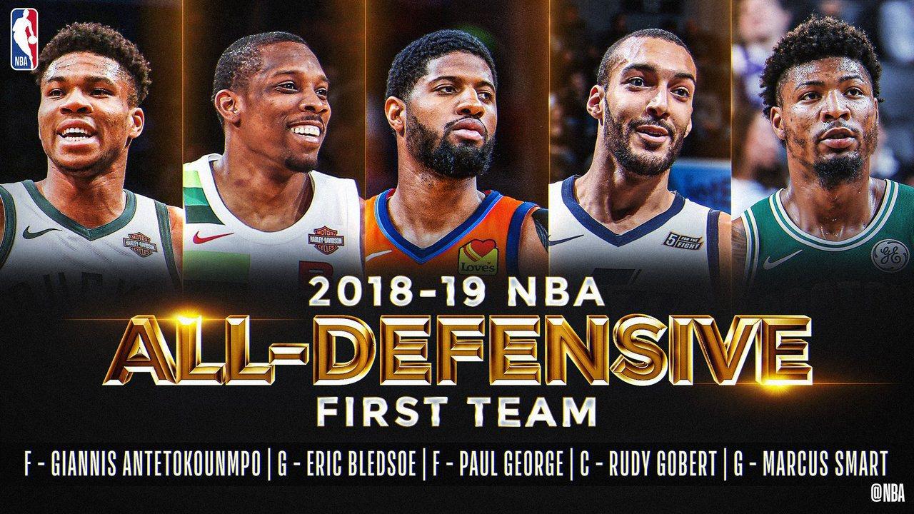 NBA/年度防守第一隊 公鹿2大將入選