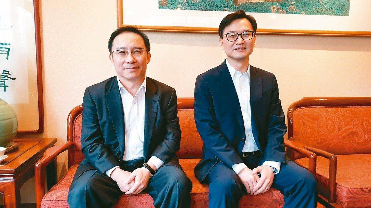 永大董事長許作名(左)昨日表示,新團隊經營策略為「台灣穩中求進,上海全力衝刺獲利...