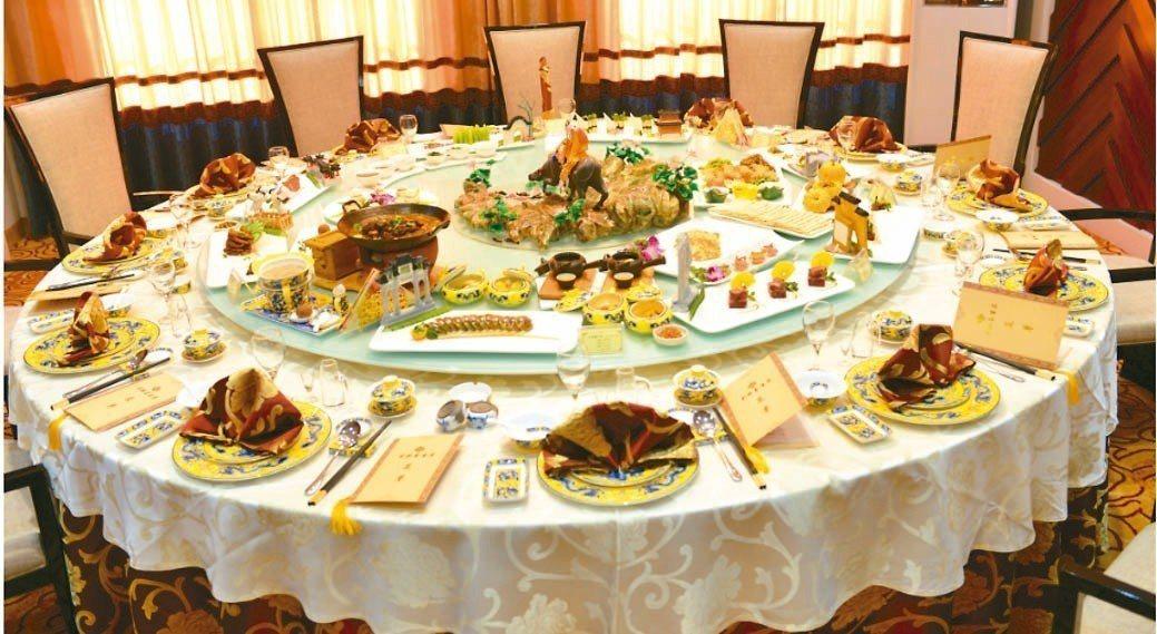 「彭祖養生宴」是徐州最著名主題宴席,獲得大陸餐飲博覽會精品宴席最高獎「金鼎獎」殊...