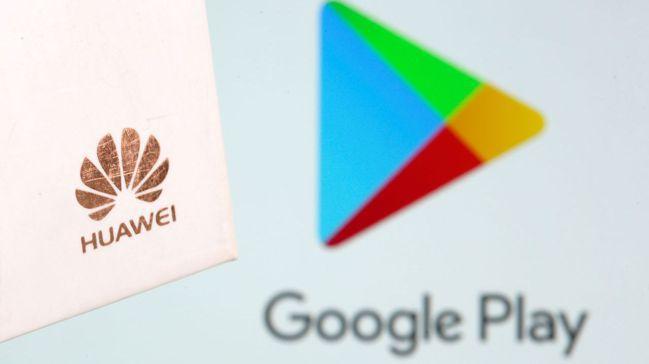華為安卓手機採用Google Play等服務,面臨受美國出口禁令衝擊。圖╱路透