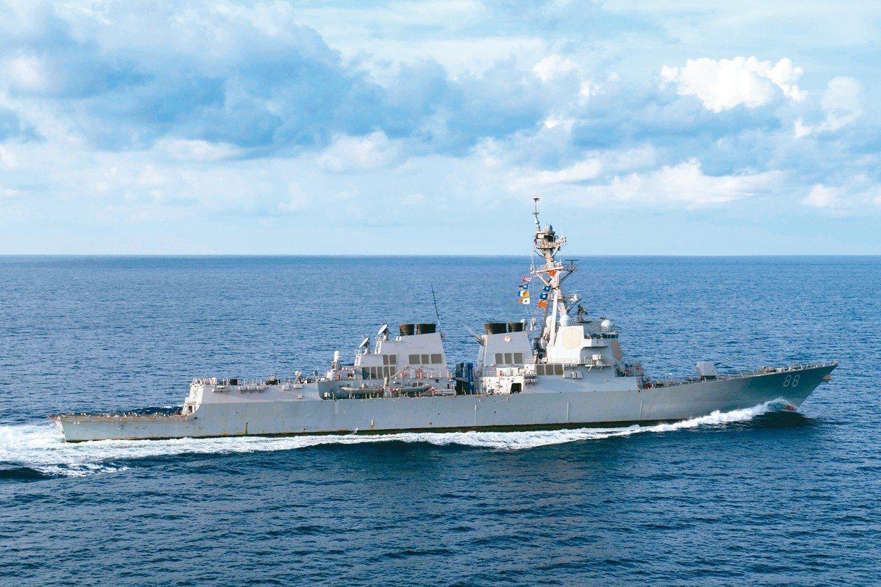 美國普雷貝爾號驅逐艦。 路透