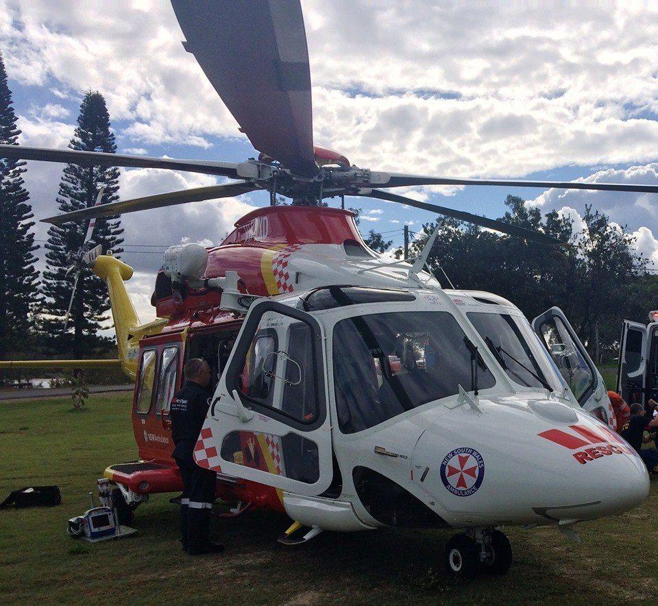 圖擷自臉書Westpac Life Saver Rescue Helicopte...