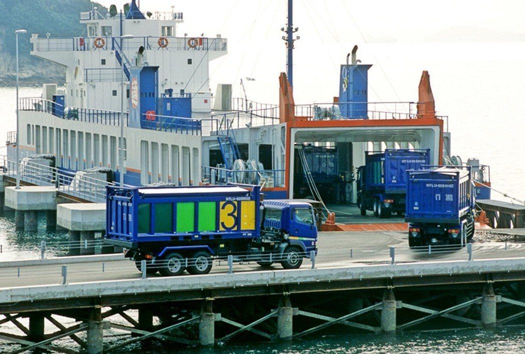 「這些產業廢棄物的量,足以讓載滿廢棄物的卡車,一台一台從東京連續排列到豐島。」圖...