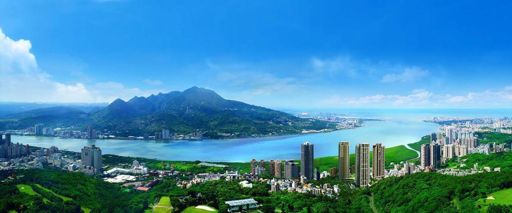 「馥人灣」擁有無敵的山水景緻。 圖/新濠建設提供