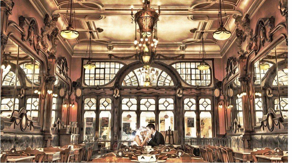 世界前10最美咖啡館之一的Café Majestic。典藏旅遊/提供