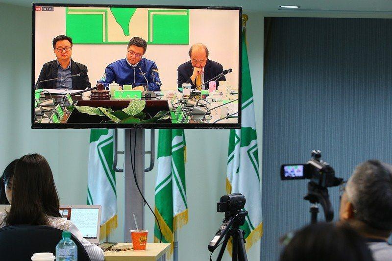 5月22日,民進黨中執會開會討論初選時程開放全程直播。 圖/聯合報系資料照