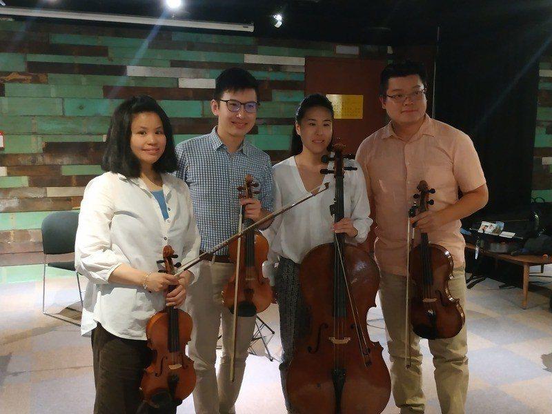 福爾摩沙四重奏將於5月底舉辦巡演演出,要以西方音樂詮釋台灣民謠。(photo b...