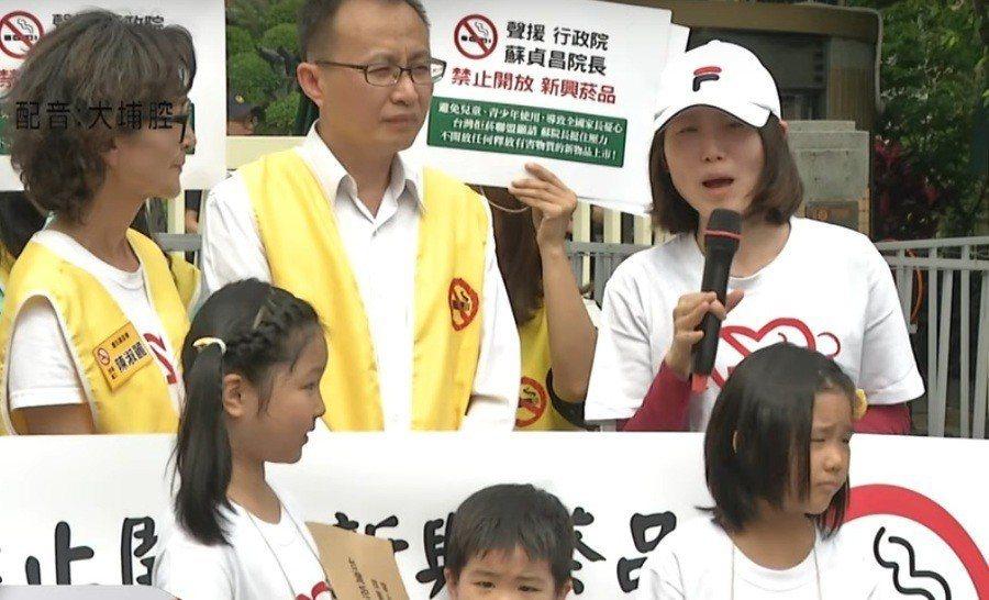 董氏基金會等反菸團體向行政院陳情,要求政府強硬拒絕菸商。(影片截圖)