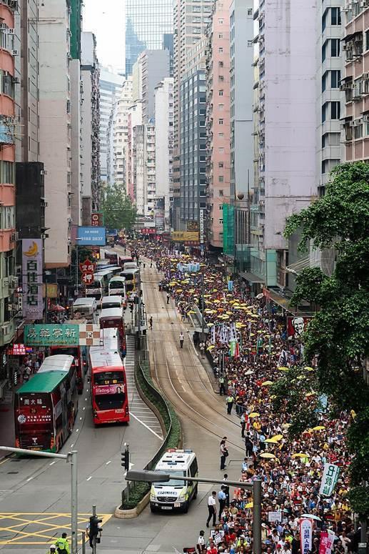 為反對修訂《逃犯條例》,2019年4月28日,民陣發起第二次遊行,民陣表示遊行有...