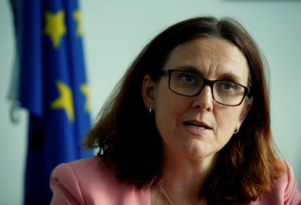 歐盟首席貿易代表Cecilia Malmstrom認為,美國尚未準備好與歐盟展開...
