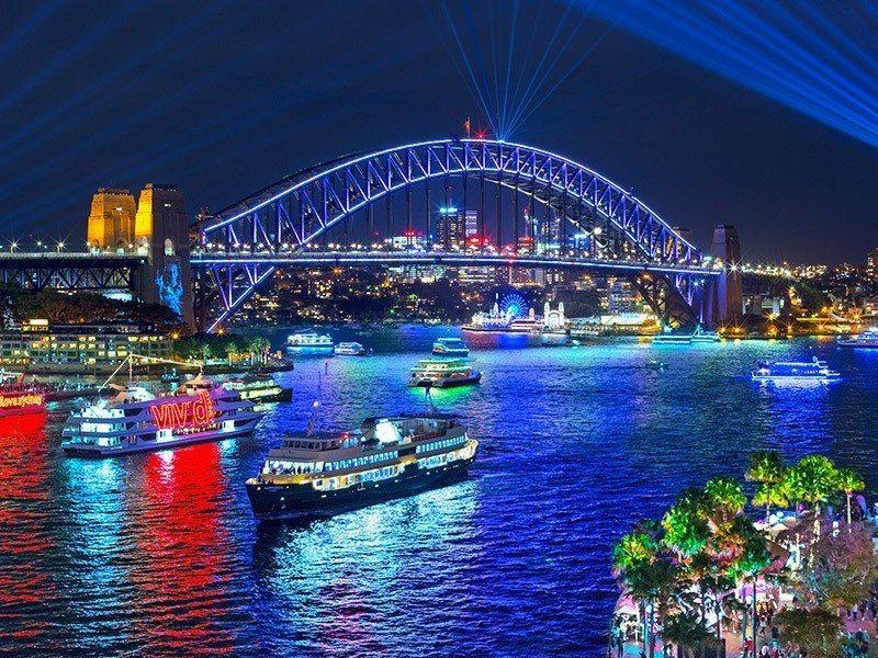 南半球最閃耀的盛事「繽紛雪梨燈光音樂節VIVID SYDNEY」明日登場。 圖/...