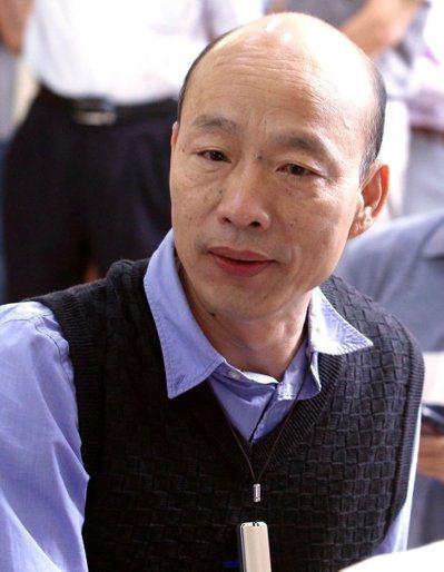 高雄市長韓國瑜表示他年輕曾荒唐但他是個有反省能力的人。本報資料照