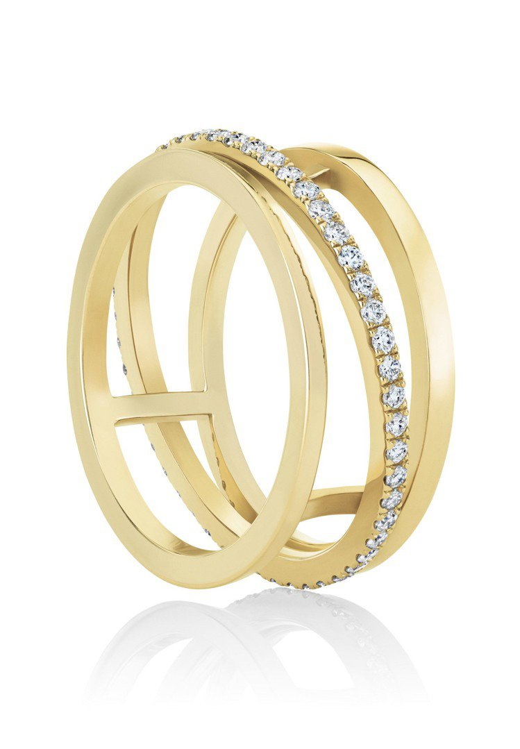 De Beers Horizon 18K黃金戒指,鑽石總重0.36克拉,約11萬...