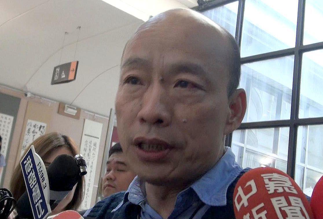 高雄市長韓國瑜說20多年前當立委時雖花天酒地,但心中自有一把尺。記者楊濡嘉/攝影