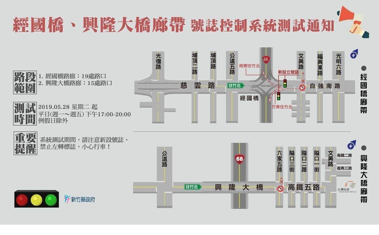 注意!紓解竹科下班壅塞 經國橋增2支紅綠燈調控車流