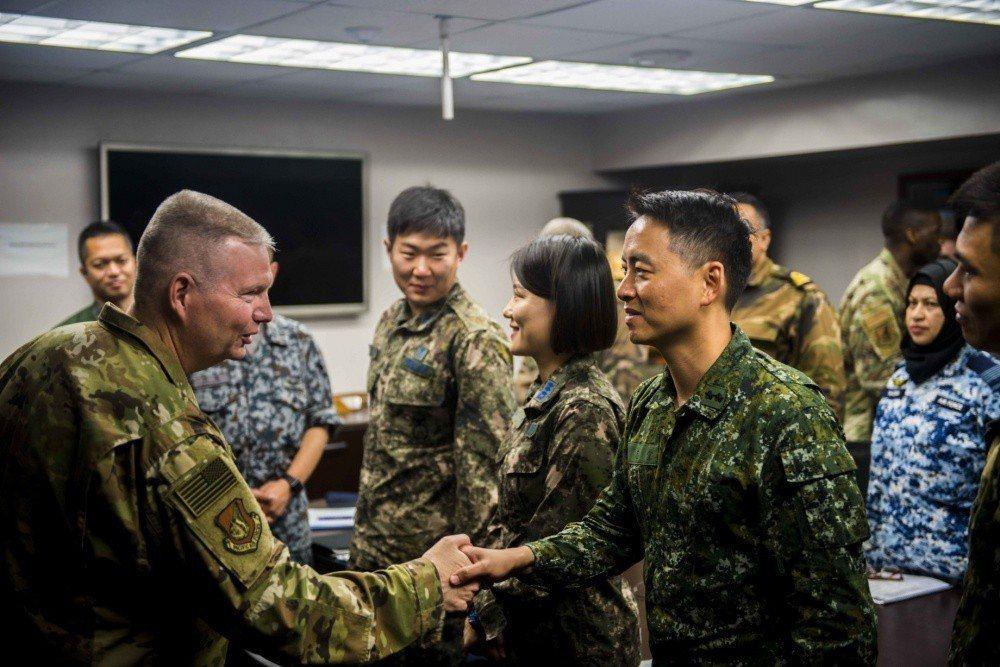 空軍派遣一名Chih-Tang Liu中校赴美國關島安德森空軍基地參與「Paci...