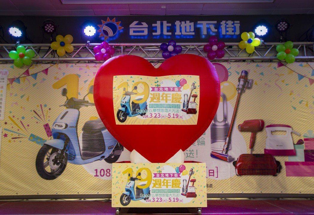 台北地下街19周年慶獎品豐富。圖/主辦單位提供