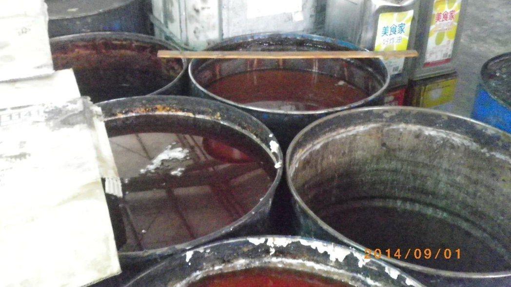地下油商郭盈志在屏東縣竹田鄉設製地下油廠。 圖/報系資料照